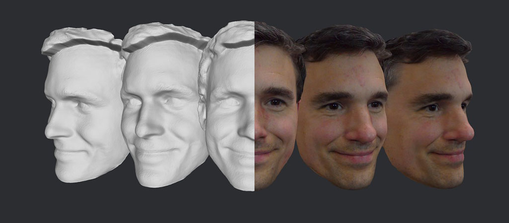 3D face model example 1