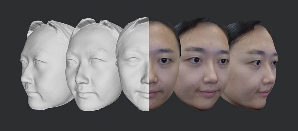 3D face model example 2