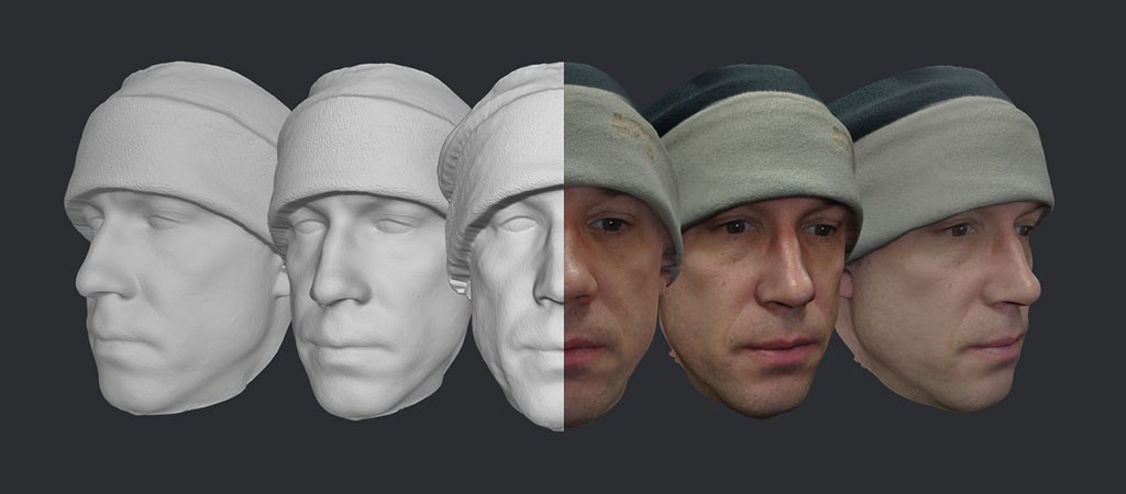 3D face model example 3