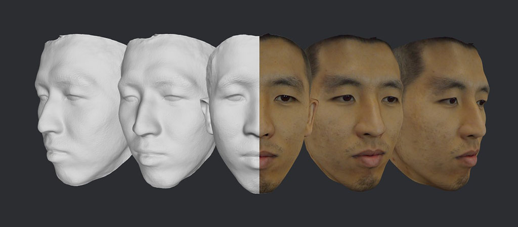 3D face model example 4